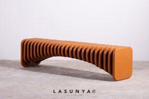 Skeleton Leather Bench Lasunya Sofa